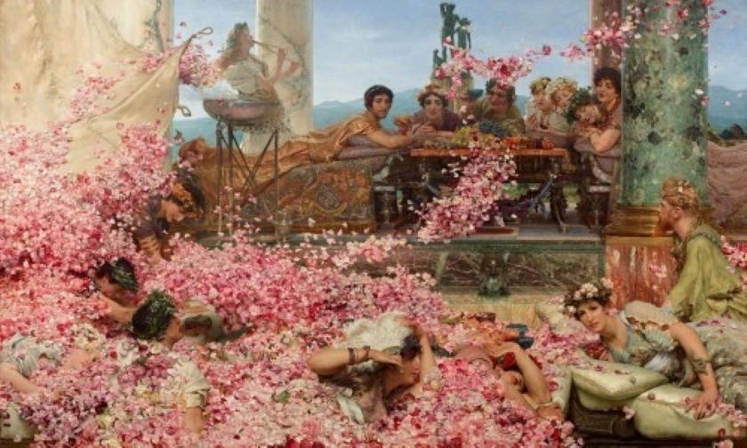 Las rosas de Heliogábalo. Obra de Lawrence Alma-Tadema