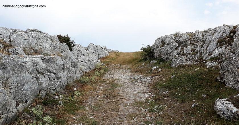 Entrada al castro de Peña Amaya.