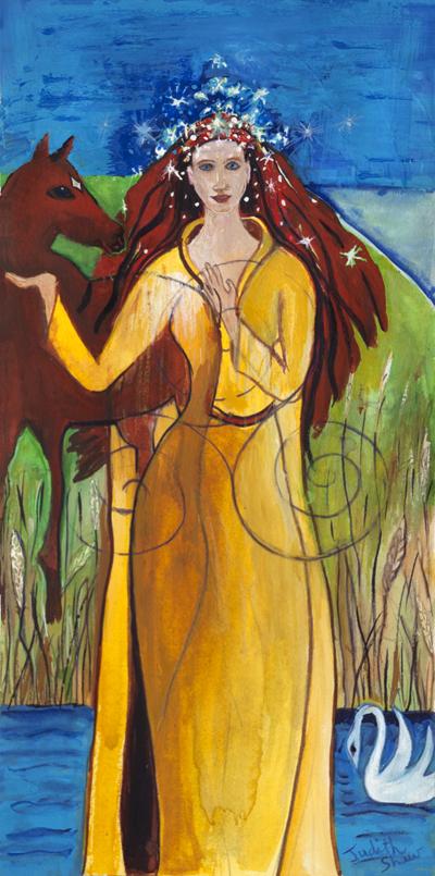 Deusa AIne. Crédito - https://www.etsy.com/listing/158749720/aine-celtic-sun-goddess-of-love-pagan?ref=shop_home_active_2