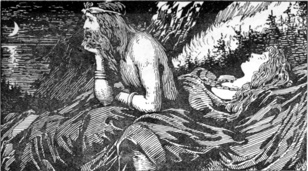 """Njord - """"Njord's Desire of the Sea"""" by W.G. Collingwood (1908)"""