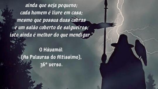 O Hávamál (As Palavras do Altíssimo) – Verso 36