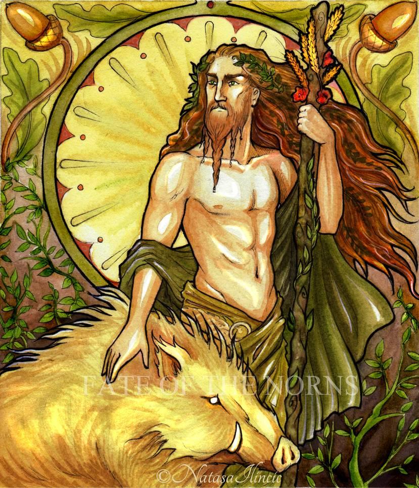 Deus Freyr. Crédito - https://www.deviantart.com/natasailincic/art/Frey-500232416