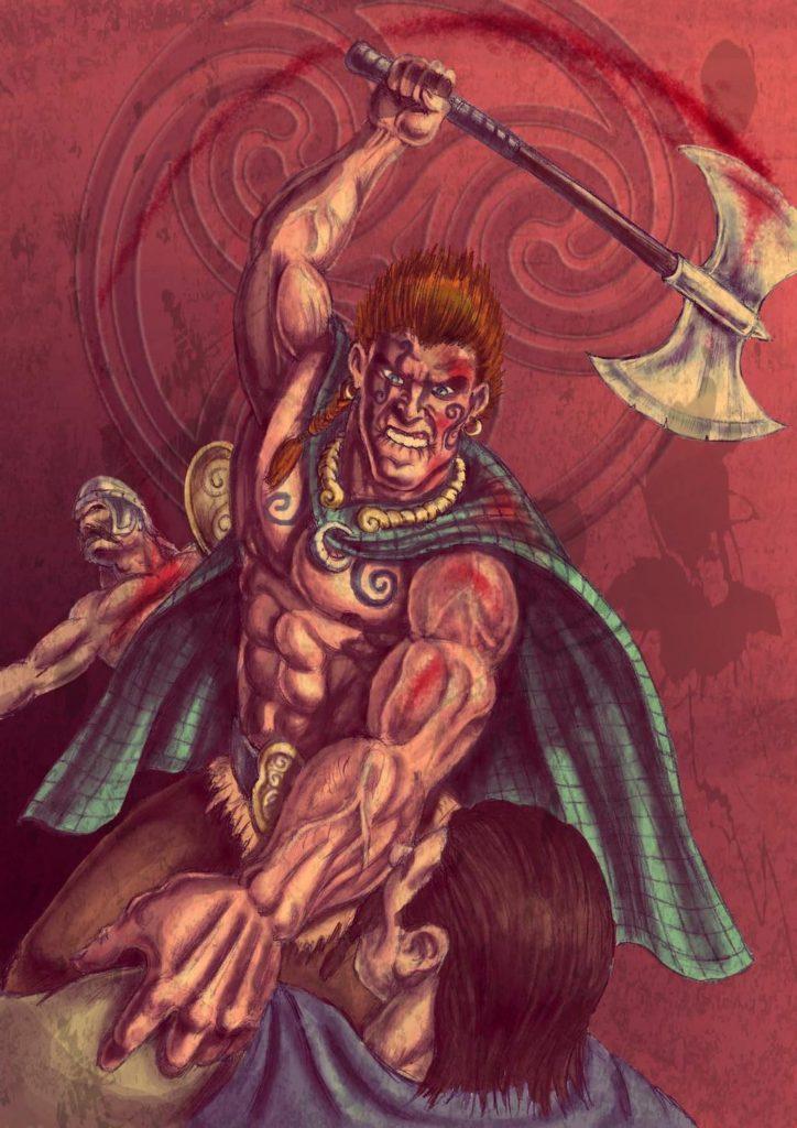 """""""Cuchulainn, the Hound of Ulster"""". Fonte: https://www.deviantart.com/popius/art/Cuchulainn-the-Hound-of-Ulster-478971434"""