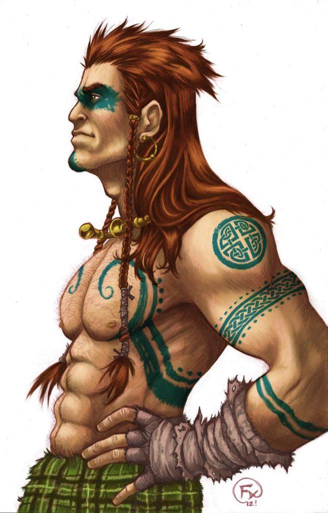 Cúchulainn. Fonte: https://www.deviantart.com/effix35/art/Cuchulainn-320374739