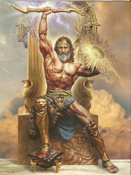 Deus Júpiter. Fonte: https://www.mygodpictures.com/greek-god-jupiter/