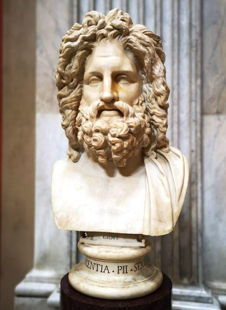 Estátua do Deus Júpiter. Fonte: https://en.wikipedia.org/wiki/Jupiter_(mythology)#/media/File:Jupiter_statue,_Vaticana.jpg