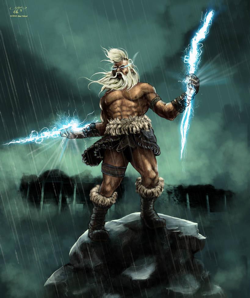 Deus Zeus. Fonte: https://www.deviantart.com/ilker-yuksel/art/Angry-Zeus-174628584