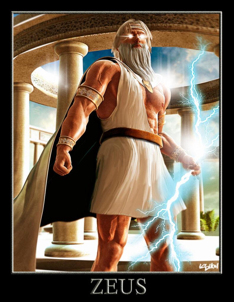 Deus Zeus. Fonte: https://www.deviantart.com/isikol/art/ZEUS-GREEK-GODS-PROJECT-168817677