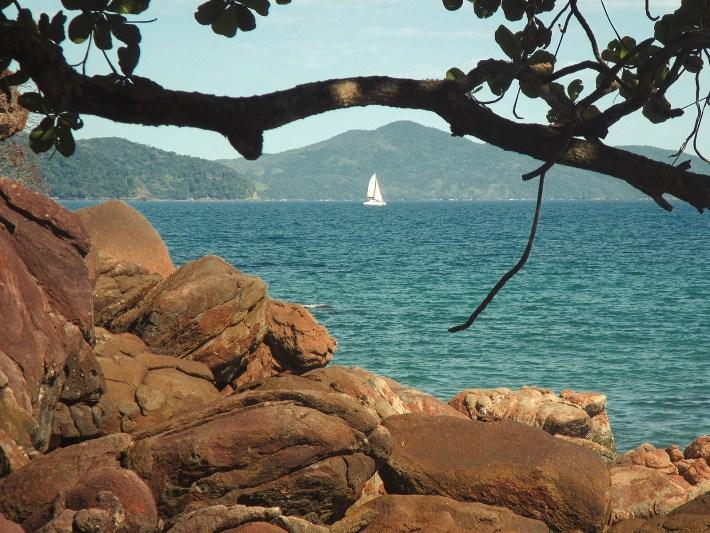 Vista da Praia Brava do Sul, vizinha da Praia Vermelha do Sul