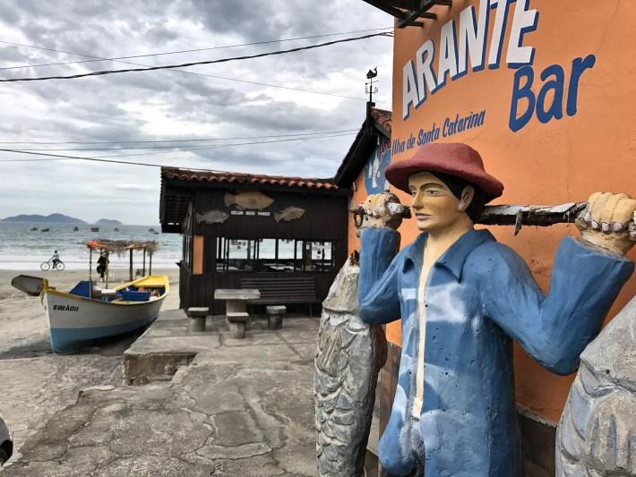Bar do Arante na praia Pântano do Sul, em Floripa