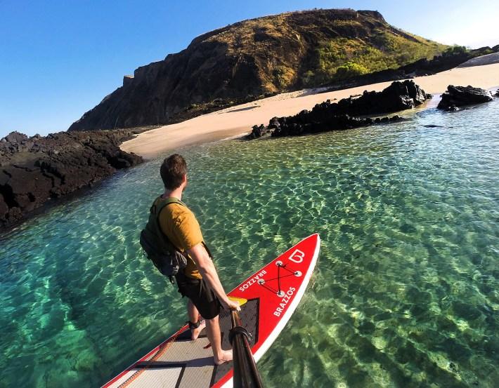 Primeiro dia de SUP em Galápagos