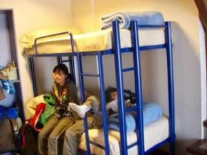 ビリヤードある宿ベッド二人