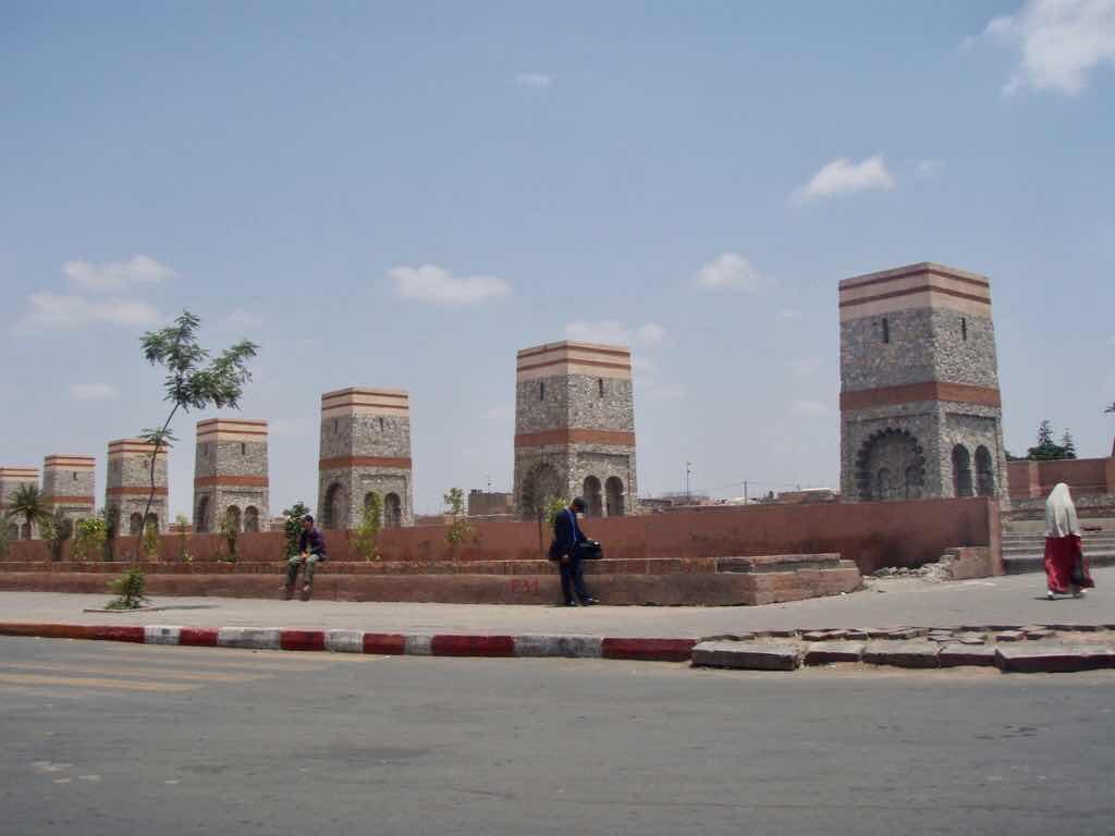 モロッコ 街並み 四角い7つ