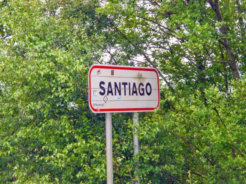 605スペイン巡礼 サンティアゴ Santiago 街 文字看板のみ
