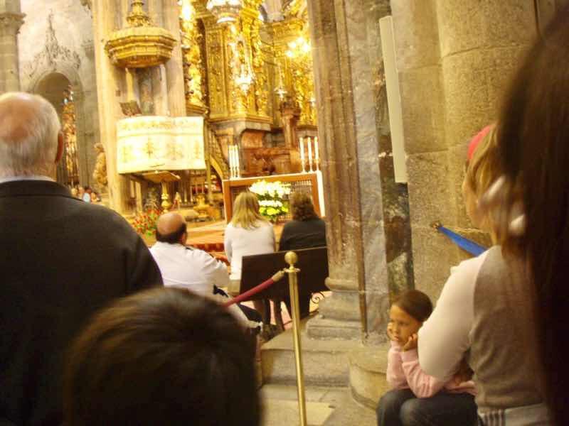 606サンティアゴ大聖堂 教会の中 Camino カミーノ