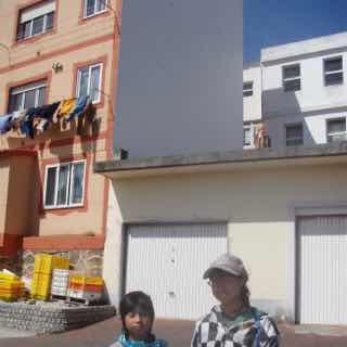 614サンティアゴ巡礼 最終地Muxia オブジェ水着屋根
