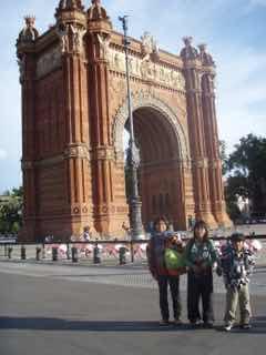 616 バルセロナ 凱旋門 123