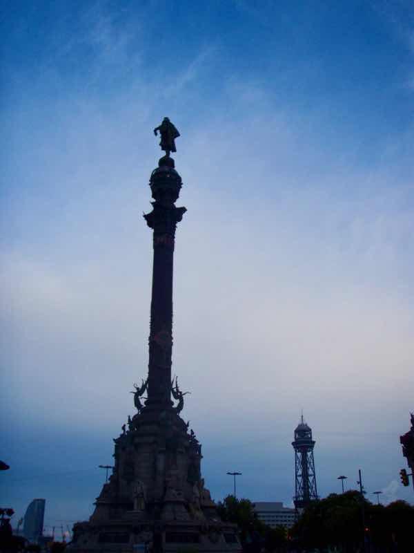 617 バルセロナ コロンブス像
