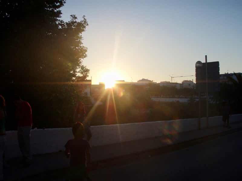 623メノルカ島 サン•フアン 馬祭り Menorca シウタデラ街の夕焼けシルエット