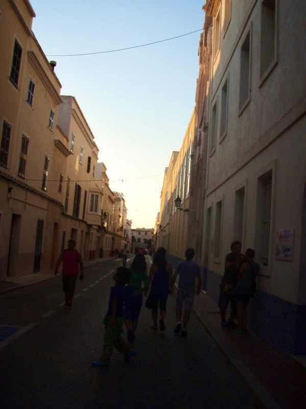 623メノルカ島 Menorca シウタデラ 夕方街歩き