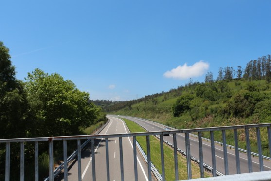 Bridge over the higway AP-9