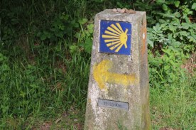 The only metal plate we saw in the whole Camino!