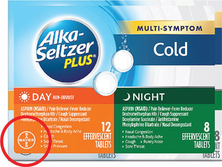 Bayer está retirando paquetes de Alka-Seltzer Plus®