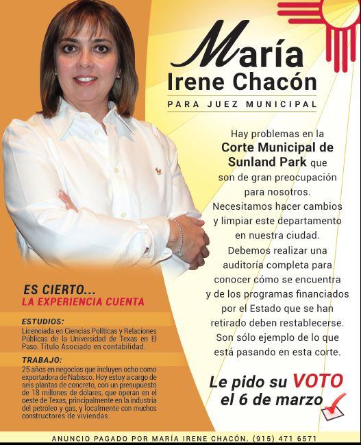 Sunland Park María Irene Chacón