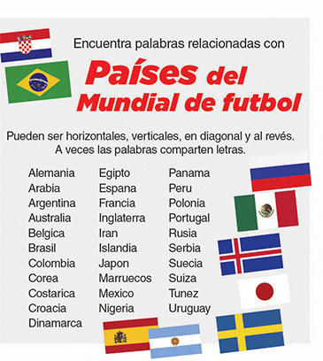 Países del mundial de futbol