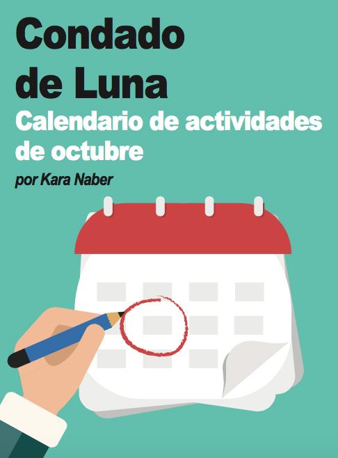 Condado de Luna | Calendario de actividades de octubre