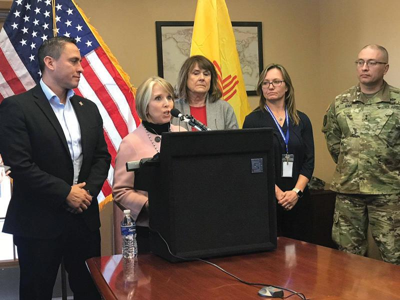 Gobernadora Lujan-Grisham visitó y declaró que No hay Crisis en la Frontera