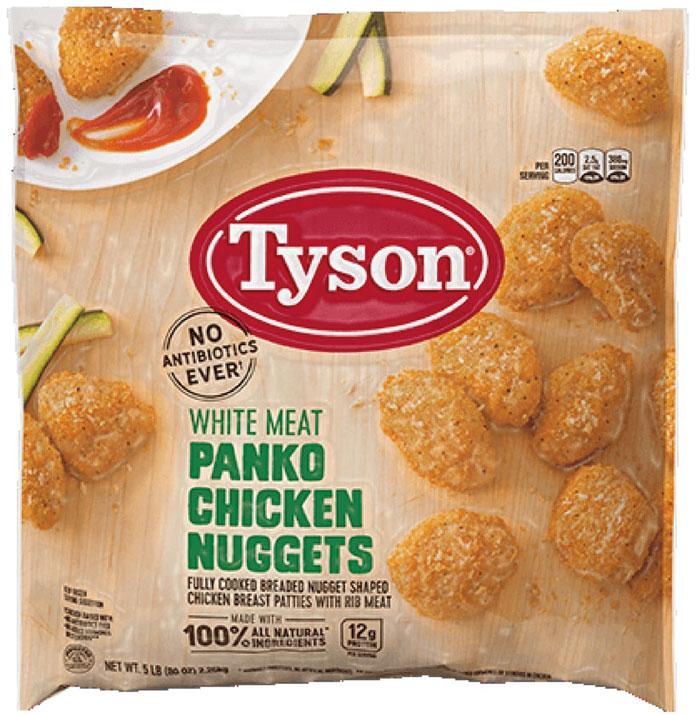 Tyson retira 70 mil libras de tiras de pollo
