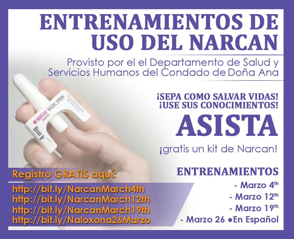 Entrenamiento sobre uso del Narcan
