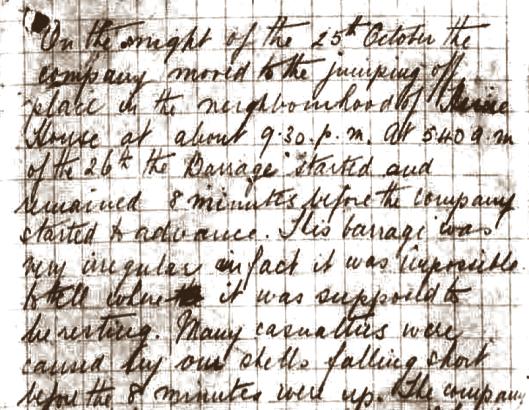 war diary Oct 25 26 1917