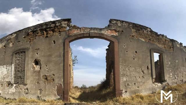 Fachada de ex hacienda San Manuel