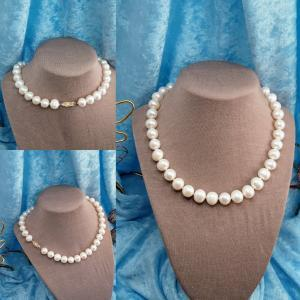 11-12 mm Freshwater Pearls 14ky clasp