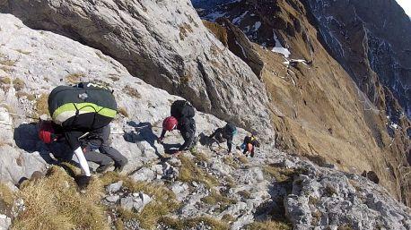 050 La ferrata che porta al Monte Peralba