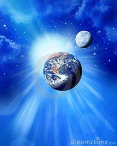 de-zon-en-de-maan-van-de-aarde-ruimte-13786196