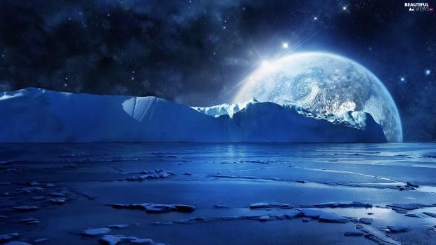 mountains-ice-moon-sea-star