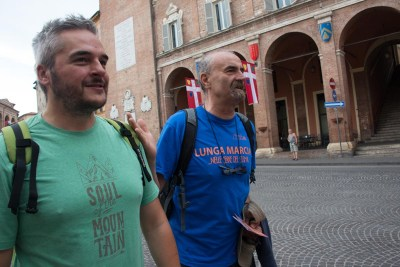 Cammino Terre Mutate Tappa 1 Fabriano Matelica Sindaco di fabriano e Paolo Piacentini (2)