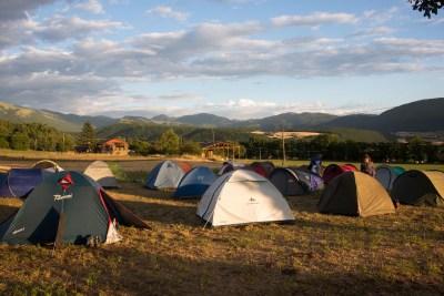 Cammino Terre Mutate Tappa 6 Campi di Norcia - Norcia in tenda a norcia