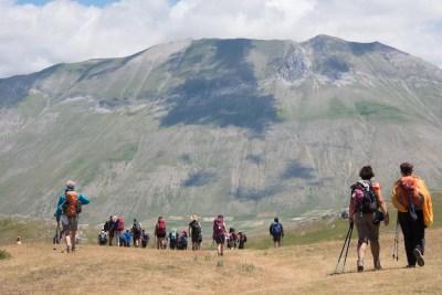 Cammino Terre Mutate Tappa 7 Norcia - Castelluccio di norcia il monte redentore