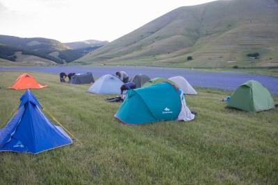 Cammino Terre Mutate Tappa 7 Norcia - Castelluccio di norcia in tenda a castelluccio