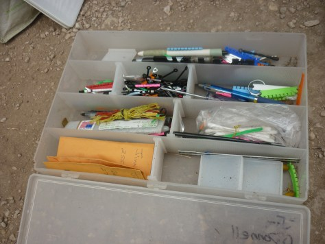 Jim's toolkit for bird banding