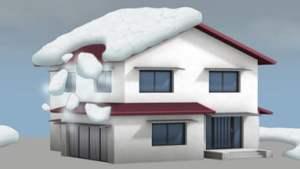 Chú ý tuyết rơi từ trên mái nhà