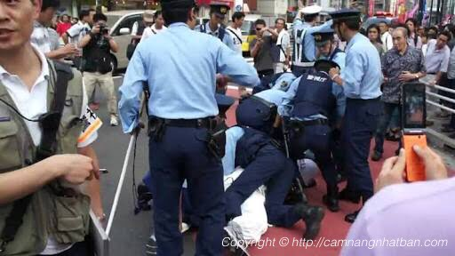 Cảnh sát Nhật bắt tội phạm