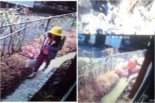 Hình ảnh cuối cùng của nạn nhân trên camera an ninh. Linh đeo trên lưng chiếc cặp sách màu đỏ.