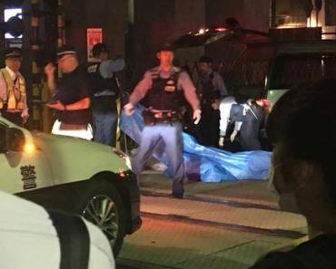 Cảnh sát có mặt tại hiện trường vụ tai nạn. Ảnh: Twitter.