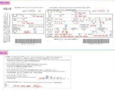 Hướng dẫn điền tờ khai nhập cảnh vào Nhật Bản