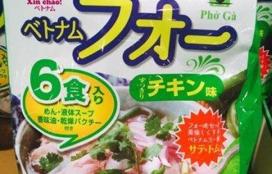Gói phở ăn liền trong siêu thị Nhật to cho 6 người